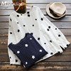 2017 Spring Autumn Casual Sweet Shirt Women S Long Sleeved Star Pattern Printing Round Neck Cotton