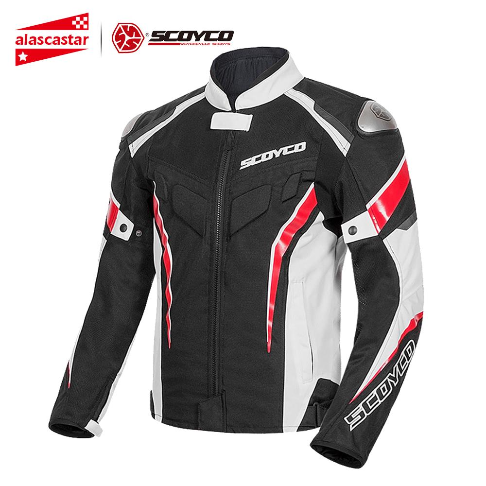 SCOYCO Motorcycle Jacket Men Reflective Motocross Chaqueta Moto Jacket Protective Gear Clothing Motorcycle Armor Protection