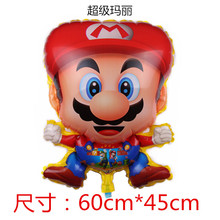 1pcs/5pcsAlien Mario Super Aluminium Balloon Child Birthday Party Foil