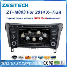 ZESTECH Factory Price Touch-Screen For Nissan X-trail Car Dvd player with Bluetooth,TV,Radio,Multi-languages,USB Russia
