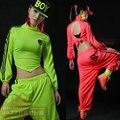 Новая мода Марка Весна Лето Хип-Хоп Танцевальная брюки Тренировочные брюки Костюмы этап производительности одежда гарем джазовые Твердые Брюки
