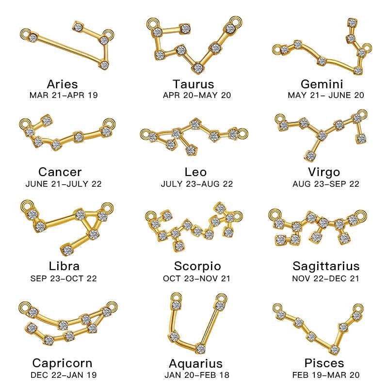 SHUANGR 12 Zodiac Constellation Anklets For Women Vintage Gold Sliver Color Crystal Anklet 2019 Bracelet On Leg Bohemian Jewelry