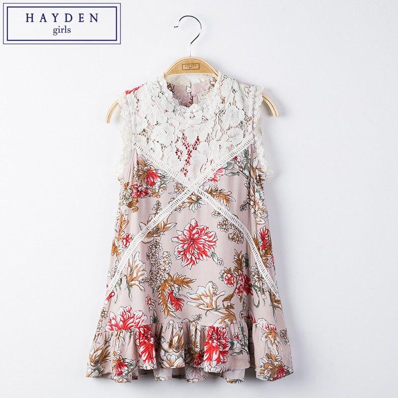HAYDEN Girls Lace Dress Size 12 10 Years Spring Summer Dresses for Big Girl Kids Vintage Floral Dress Brand Designers Autumn New lemark смеситель для ванны lemark atlantiss lm3245c однорычажный хром на 3 отверстия f r7 p6sz