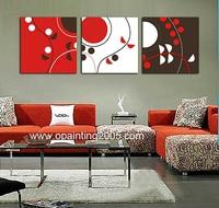 Caldo Nel Mondo Murale Casa Craft Mano Decorativi Dipinti 3 Pezzo astratta della Tela di canapa di Arte Nero E Rosso Astratta Pittura Ad Olio Su Tela di Canapa