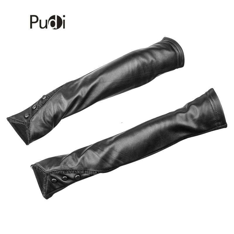 Back To Search Resultsapparel Accessories Trustful Pudi Gl803 Womens Genuine Leather 2018 New Arrival Black Glove Half-finger With Long Cuff Sheep Leather Glove Bracing Up The Whole System And Strengthening It