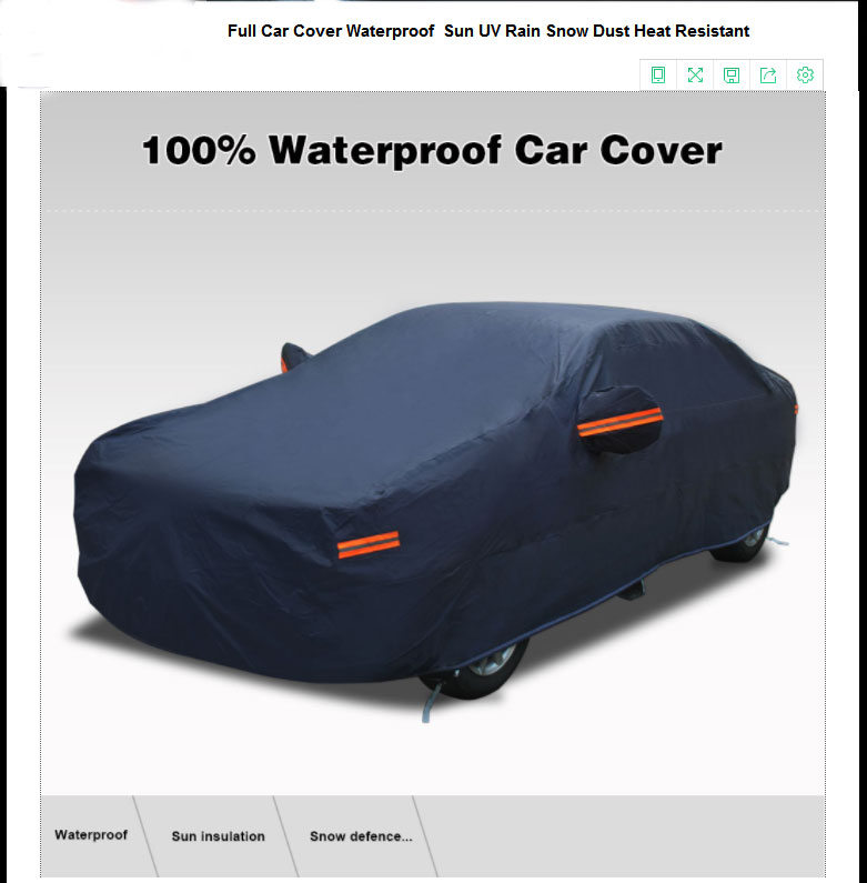 2 Layer Fitted Outdoor Car Cover Free Storage Bag /& Cable OEM TM® Brand Name