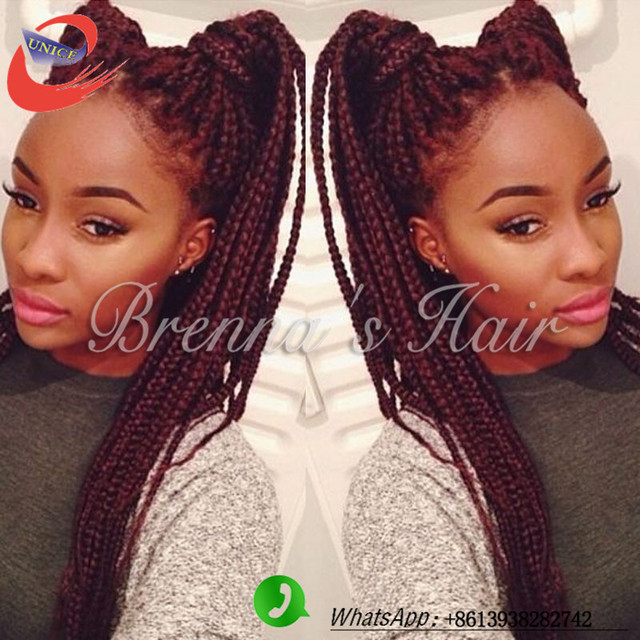 Magnificent Aliexpress Com Buy Burgundy African Box Braids Hairstyle Short Hairstyles For Black Women Fulllsitofus