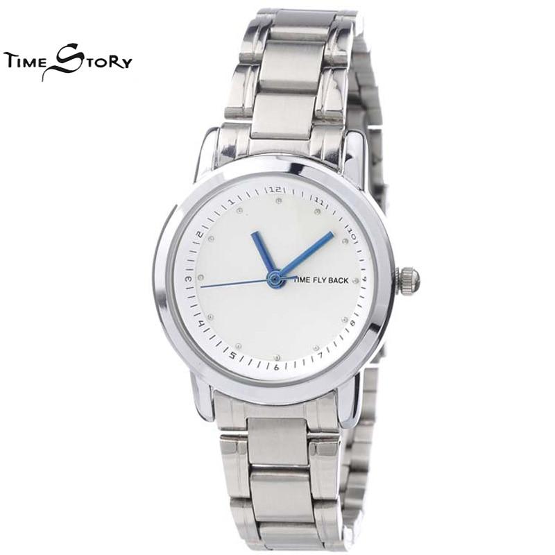 Brand Time Story Anti clockwise Fashion Watch Women Quartz Wristwatches Ladies Casual Watch Logo Customized Waterproof