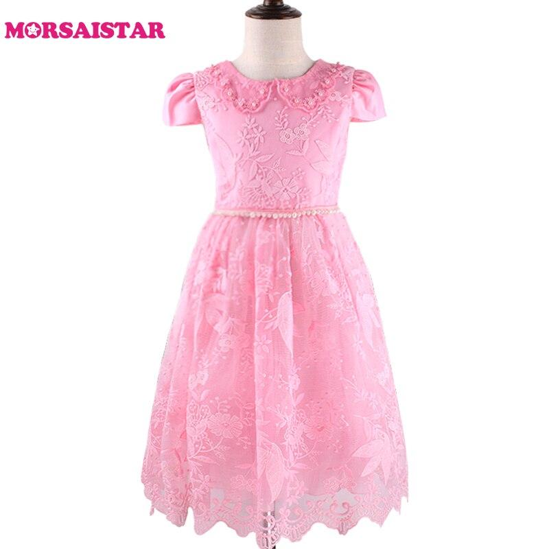 Flower Dress, children's evening Dress, pink Flower Girl Dresses Princess Birthday Dress вечернее платье mermaid dress vestido noiva 2015 w006 elie saab evening dress