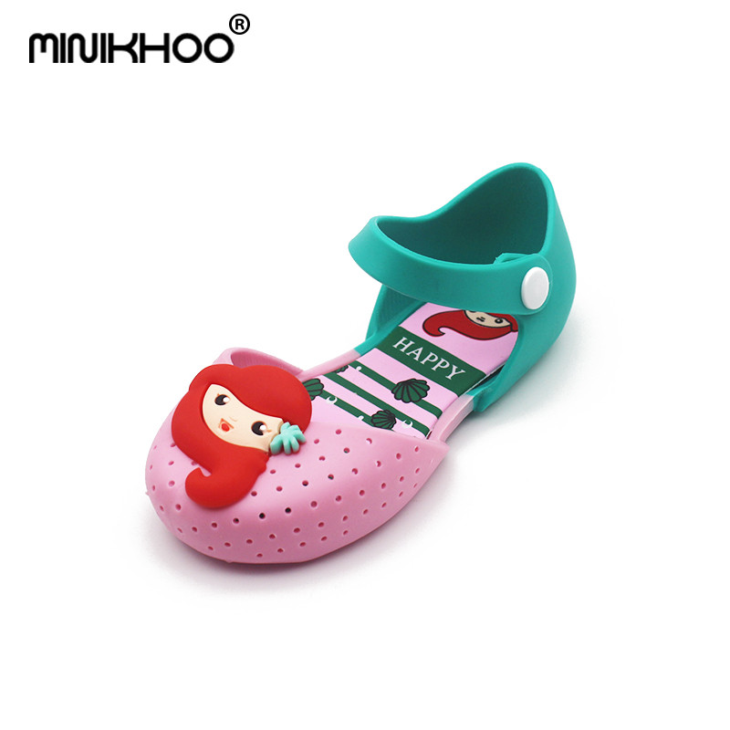 Mini Melissa Girls Jelly Shoes Mermaid Princess Sandals Girls Sandals Shoes Mini Melissa Princess Shoes Anti-Skid Sapato Sandals