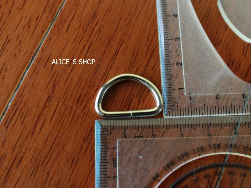 3/4 inch Bag parts, Bag hardware accessories Handbag solid D Ring Buckle belt parts Metal Dog ring Package accessories