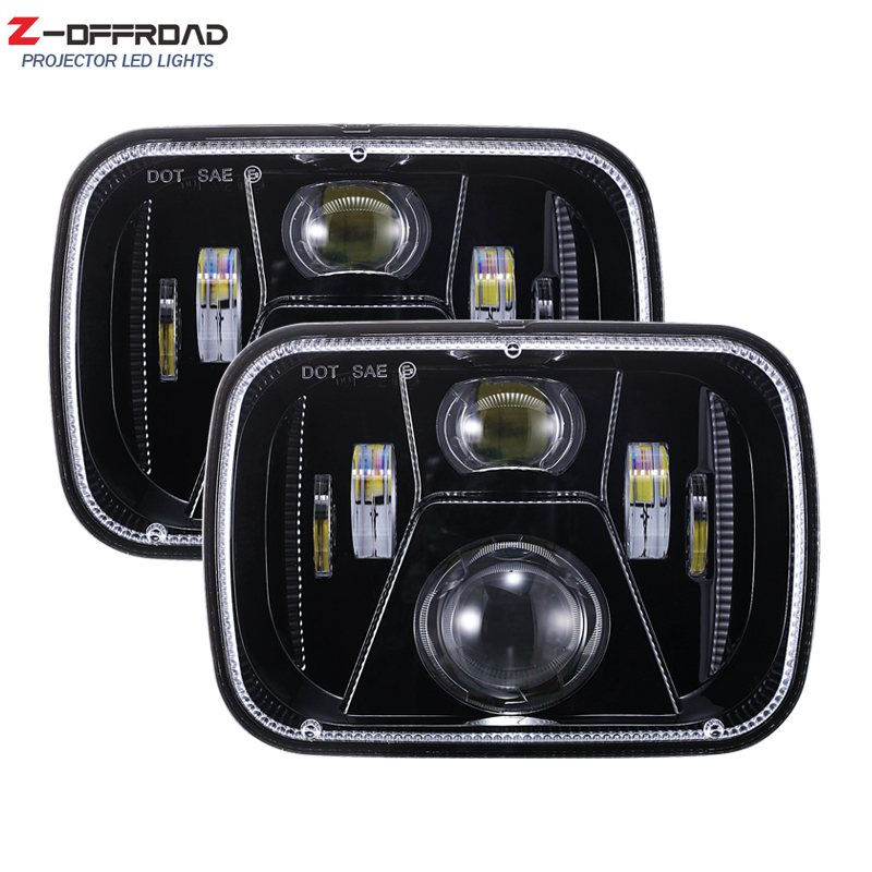 DOT SAE Emark approved light for GMC 5x7 Inch LED Square Headlight for Jeep Cherokee XJ Offroad Lighting Headlamp Replacement s1000rr turn led lights