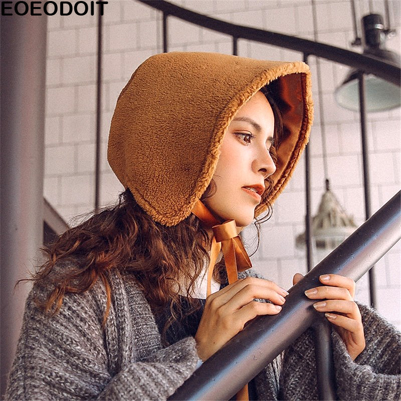 611a360087058 Best buy EOEODOIT 2018 Spring Winter Caps Women Bucket Hats Berber Fleece  Cashmere Like Bonnet Sweet Hats online cheap