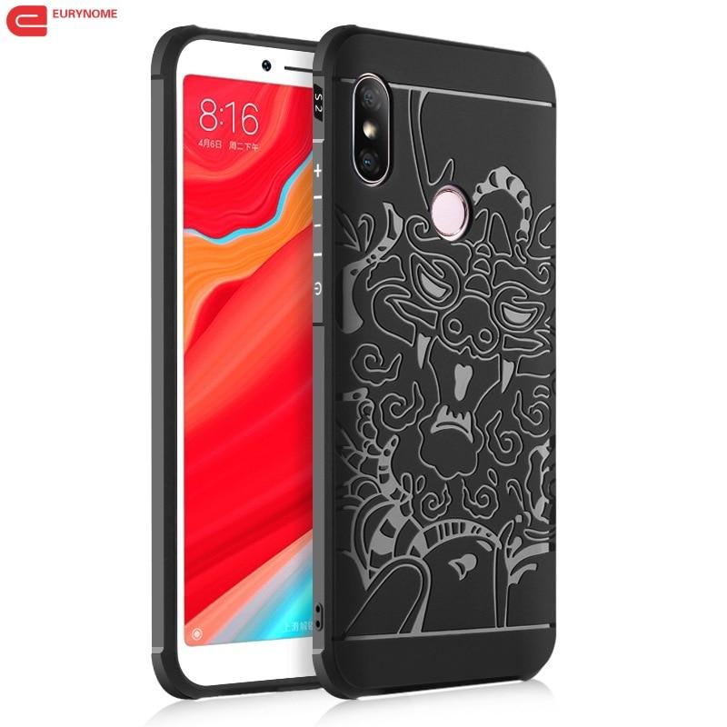 Cover For Xiaomi Redmi S2 Case Dragon Shield Protector Soft Silicon Cover Case For Xiaomi Redmi S2 Redmi Y2 india Screen Film