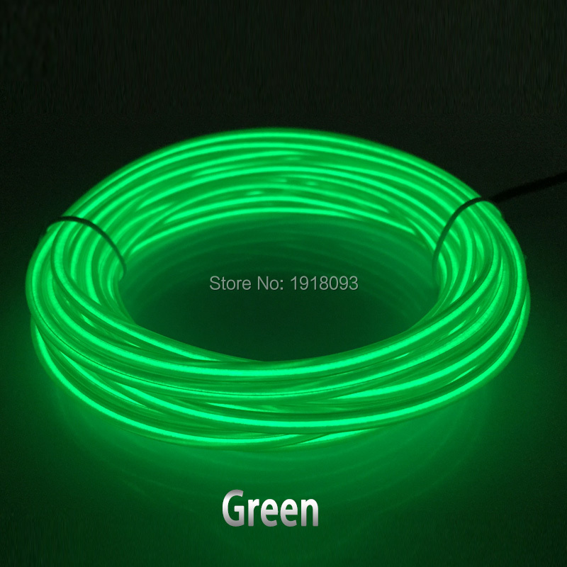 ФОТО High-grade 3.2mm 15Meter 10 Colors available EL wire Neon glowing Holiday Lighting Powered by 100V-220V for Costume decoration
