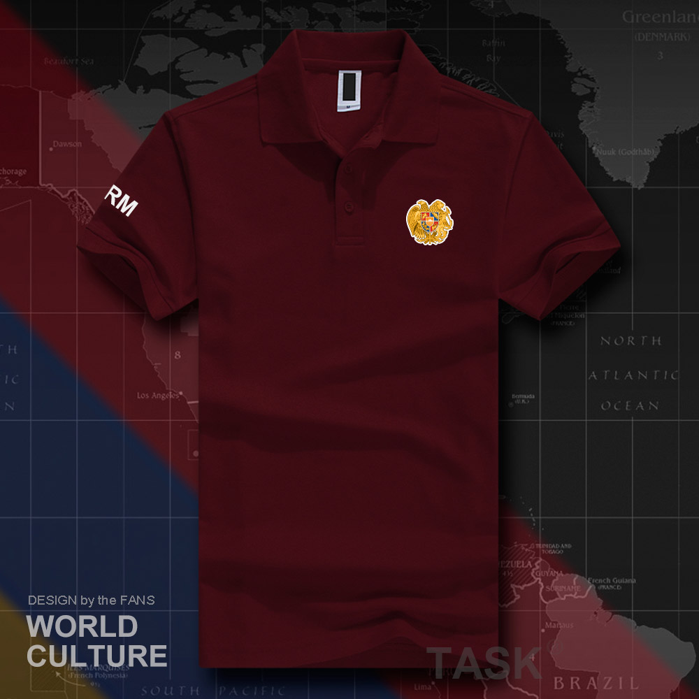 Armenia Armenian Arm Am Polo Shirts Men Short Sleeve White Brands