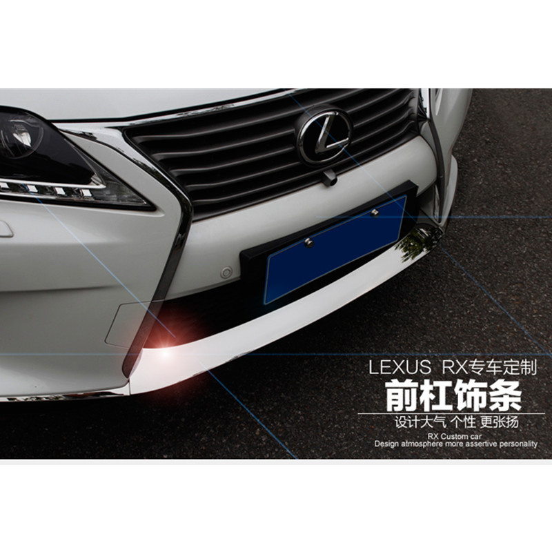 High-quality stainless steel front bumper molding for LEXUS RX350 RX450 F Sport ,Car styling high quality stainless steel wire drawing water glass holder panel 1pcs for lexus 2016 rx200 rx450h accessories