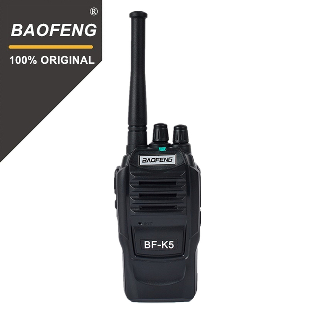 BaoFeng Walkie Talkie K5, 5 W, UHF, frecuencia de 400 470MHz, Radio portátil, transceptor Ham Radio Hf, Radio práctica bidireccional