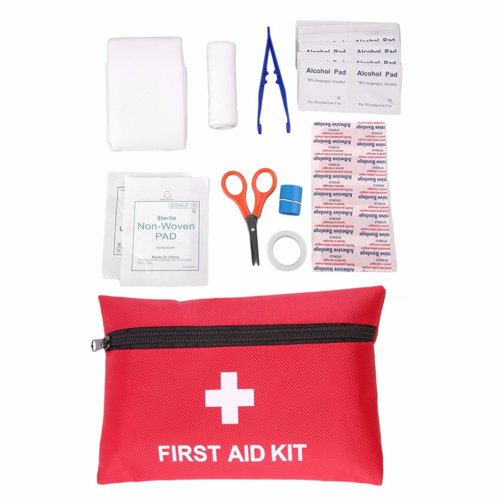 All In 1 Medical Emergency Survival First Aid Kit Professional Outdoor Sport Travel Camping Home Rescue Medical Treatment Pack eva first aid kit 18 sets of outdoor survival home rescue disaster emergency kits camping hiking medical treatment pack