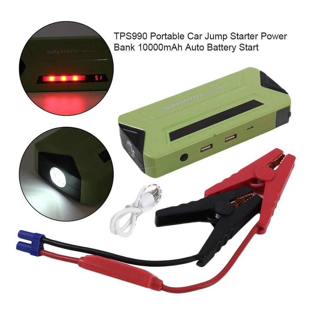 TPS990 Portable voiture saut démarreur batterie externe 10000mAh Auto batterie chargeur de secours pour l'essence et le démarrage