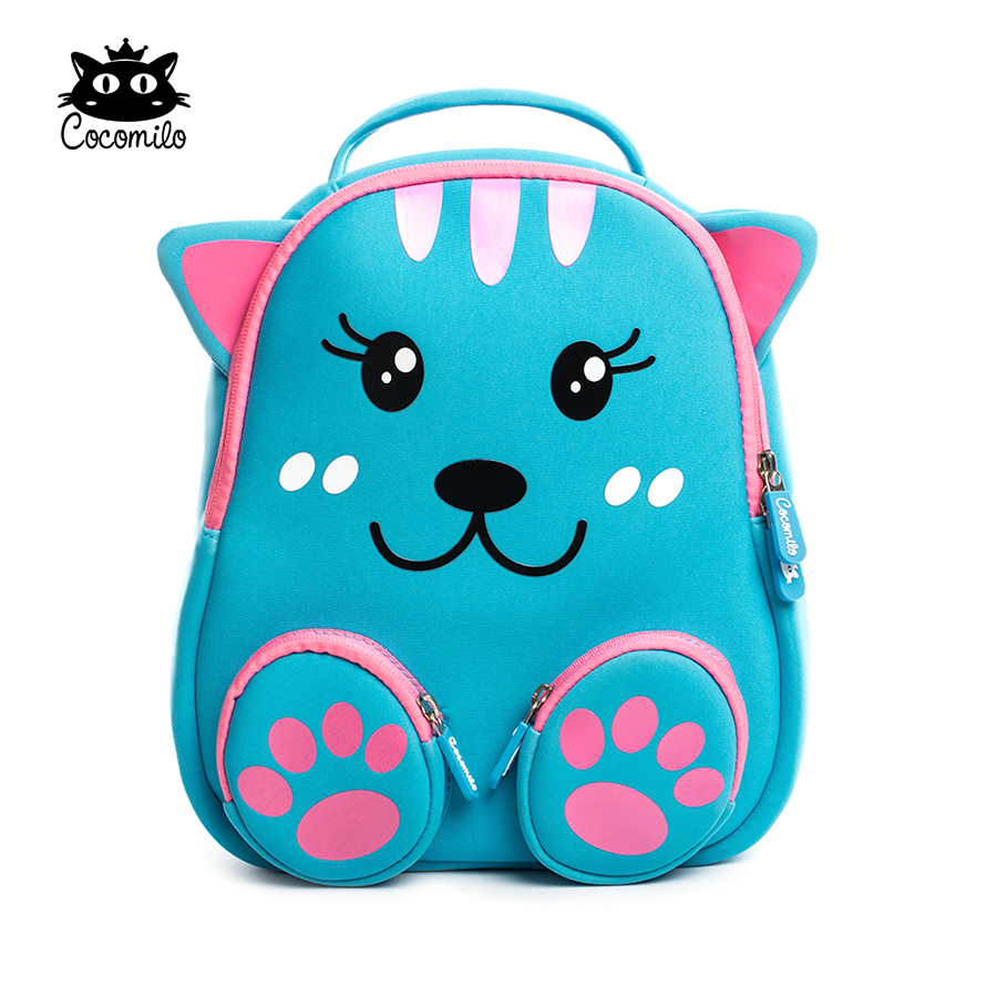 Cocomilo Little bear pattern Kids School Bag 3D Cartoon soft Backpack Cat Small Kindergarten Toddler Baby bag for kids 2-6 Years unique superman custom kids school backpack bag small the portable
