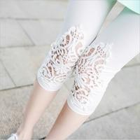 S 5XL Plus Size Leggings Women Sport Leggings Lace Decoration White Leggings Size 5xl 4xl 3xl