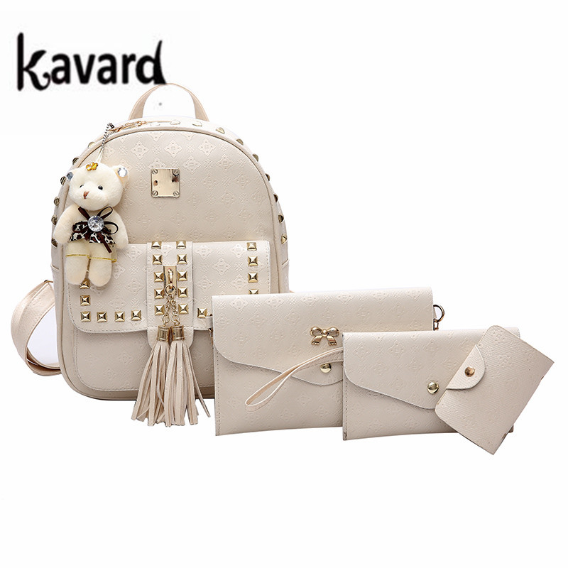 sac a dos Kavard Brand Rivet cute Backpack Women schoolbag for teenage girls Fashion Leather backpack