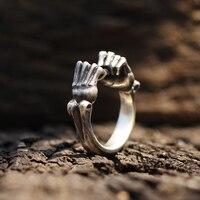 Сюрприз ее/его кольцо в форме кулака символ силы кольца 925 серебро Бокс рук панк рок ювелирные изделия для женщин мужчин подарок ко Дню Свято