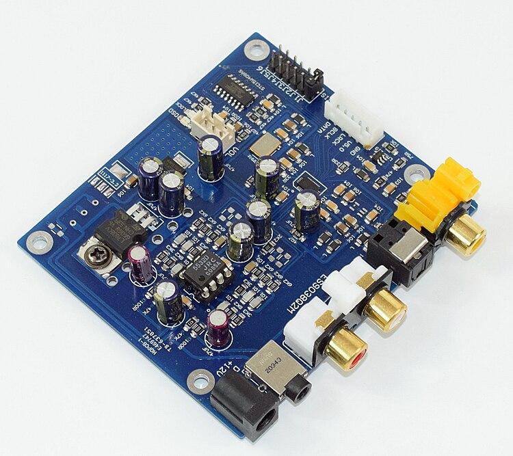 ES9038Q2M ES9038 I2S Fiber coaxiale entrée décodeurs carte de moulage DAC carte de décodage pour amplificateur AMP Support I2S DSD 256 K