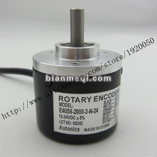 Codificadores rotativos E40S6-2000-3-N-24 diámetro exterior 40mm 2000 P/R Eje 6mm