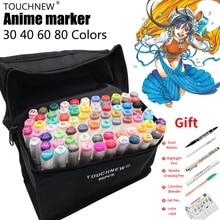 TOUCHNEW ensemble de marqueurs à base dalcool, 80 couleurs, marqueurs pour croquis, double encre lisse, Finecolour, Dessin, Anime, stylos à Dessin