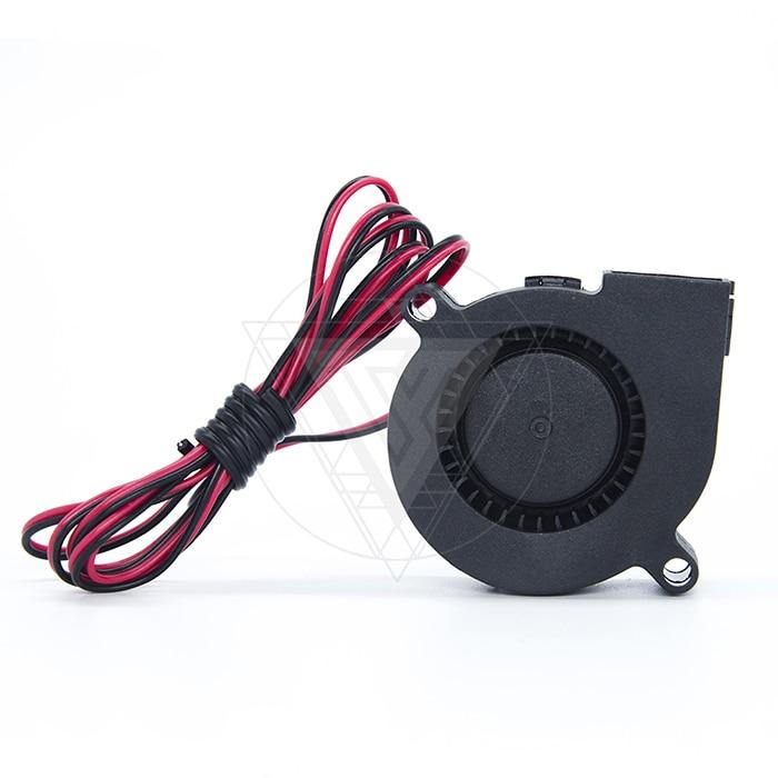 Funsor 5015 50mm radial blower DC 12V/24V 30cm cooling turbofan 1000mm  cable for Reprap Prusa 3D printer accessories