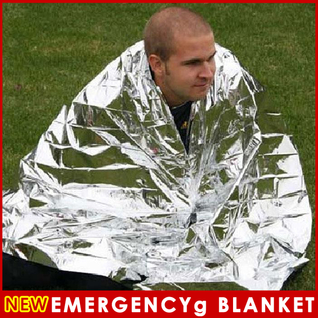 2 PCS Waterproof Emergency Survival Foil Thermal First Aid Rescue Blanket