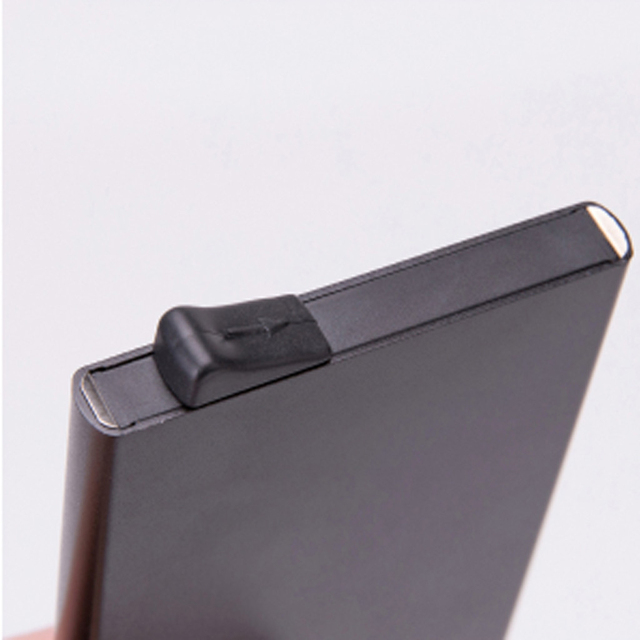 Aelicy High-grade Alumina Mult-card Holder Solid Color Automatic Pop-up Anti-theft Bank Card Box Mini Business Card Case 1