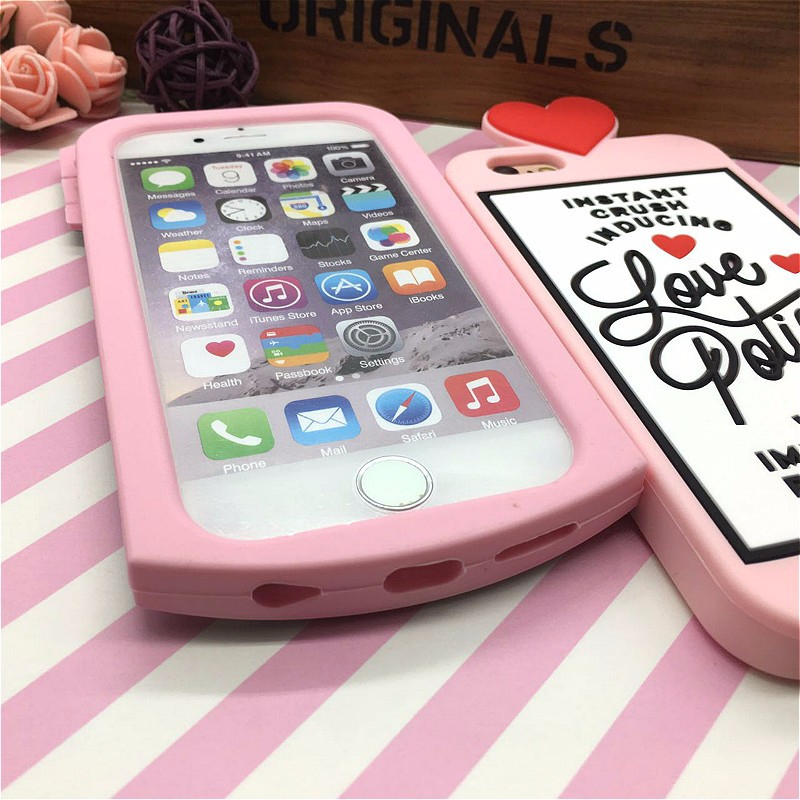 HTB1ws3RNFXXXXXGXpXXq6xXFXXXJ - Fashion 3D Sweet Love Polion Chill Pills Rubber Soft Cute Back Cover for Apple iPhone 6 6s 4.7'' Funny Silicone Phone Case Shell PTC 232