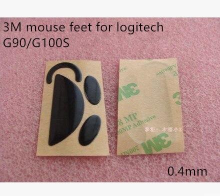 1 set original 3M mouse feet mouse skates for Logitech G100 G100S G90 Teflon material 0.4mm/0