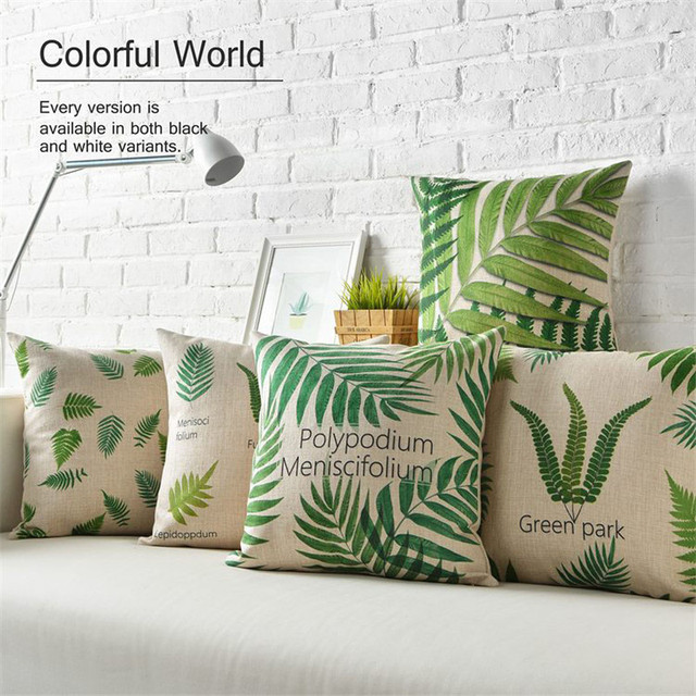 Decorative Country Throw Pillows Case Green Leaf Cushion Cover Seat Beauteous Country Throw Pillows Decorative