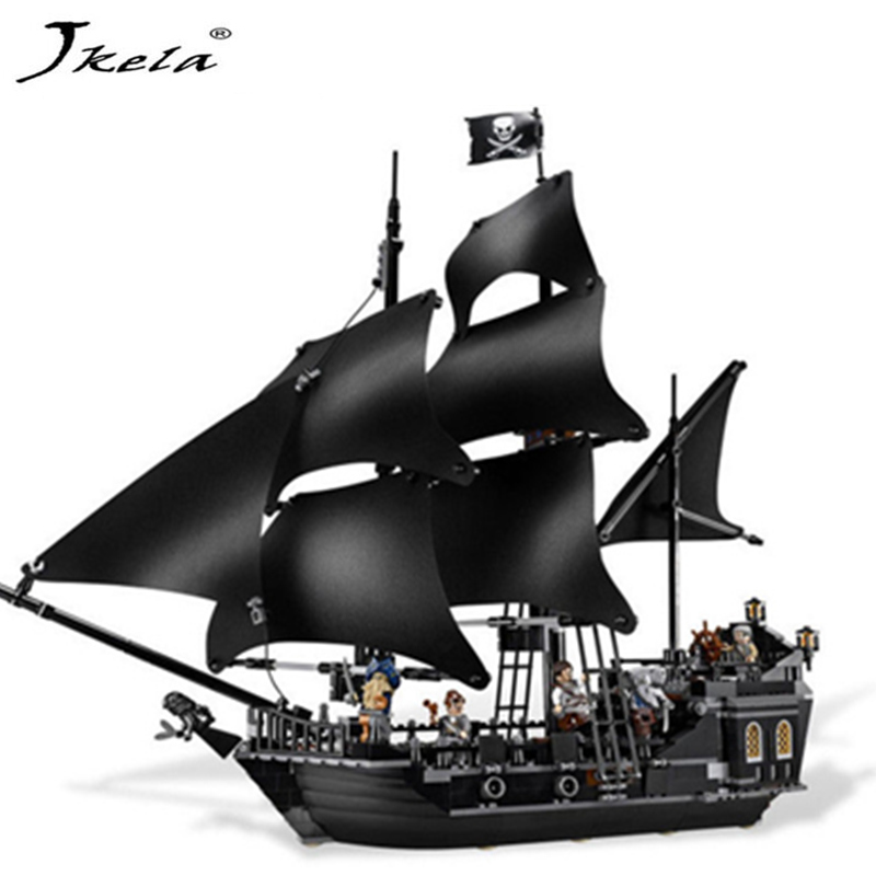 [Jkela] 804Pcs Pirates of the Caribbean Moive Captain Jack Pirate Ship The Black Pearl Building Block 16006Compatible Legoingly kazi 608pcs pirates armada flagship building blocks brinquedos caribbean warship sets the black pearl compatible with bricks