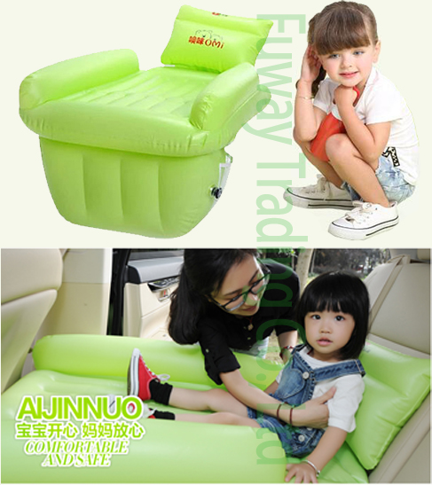 цена на DHL Free Shipping!!!Children Car back Seat inflatable Air Mattress bed High quality Car flocking inflatable bed