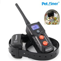 Petrainer Pet Dog Training Collar Rechargeable Waterproof Dog Electronic Shock Training Collar Blue LCD display PET916