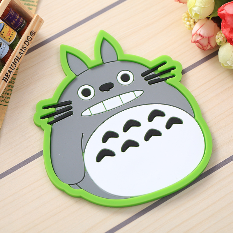BP1 Pcs Dining Table Placemat Coaster Kitchen Accessories silicone Mat Cup Bar Mug Cartoon Animal Owl FK-CZD coffee coasters