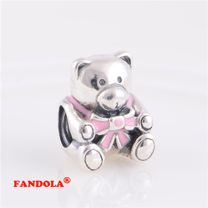 925 Sterling Silver Bear Charm Made in USA