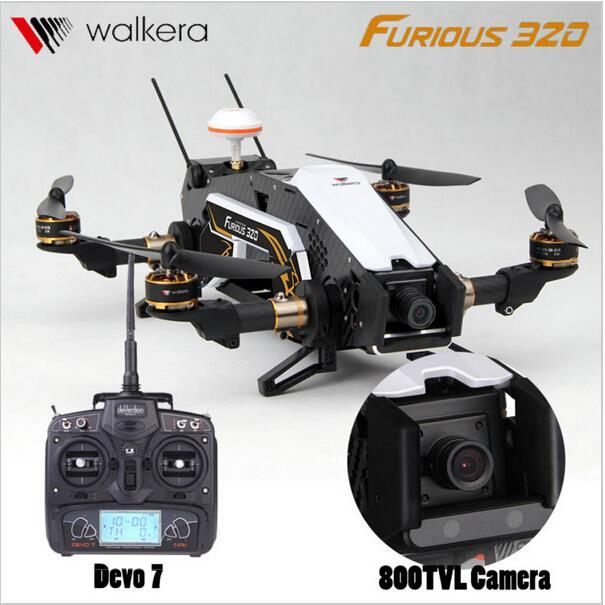F16884/85 Walkera Devo7 TVL800 Furioso 320 RC Drone con Cámara 1080 P 2.4G Transmisor RTF Quadcopter OSD PPC Modular