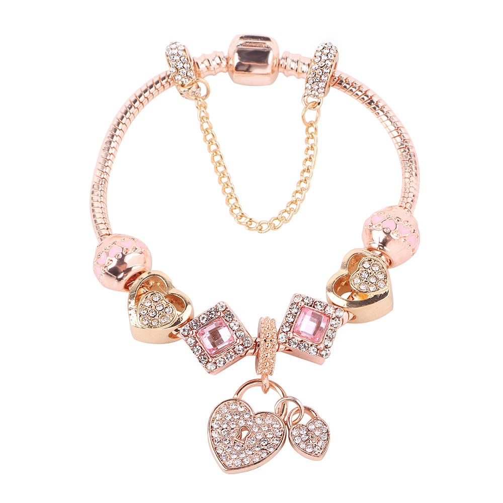 Couqcy Rose Gold Chain Lady Exquisite Bracelets
