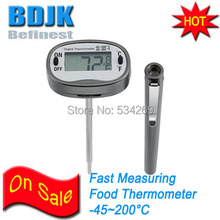 Portable Digital Food Temperature Tester with Probe and Cover C/F Switch