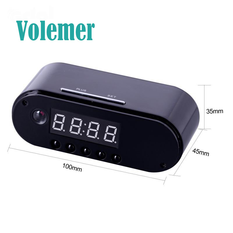 Volemer Table Clock Camera Wireless WIFI 1080P Night Vision Remotely Monitor Home Securi ...