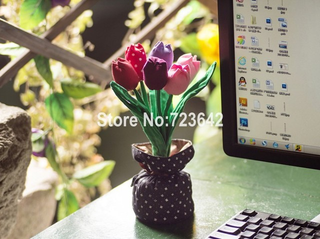 Free Shipping Eco-friendly Handmade Fabric Bamboo Charcoal Flower For Air Purification Car Formaldehyde Unique