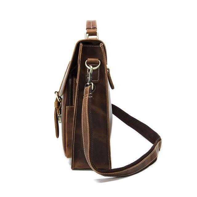 Westal negócios maletas saco masculino para advogado vintage cavalo louco couro portátil pastas saco 14 polegada escritório/documento sacos 3