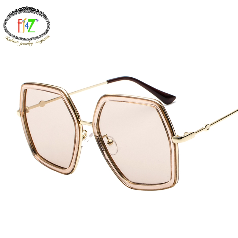 83d32cc1ab F.J4Z Hot Unusual Oversize Design Youth Women s Sunglasses For Outdoor  Protection Fashion Cool High