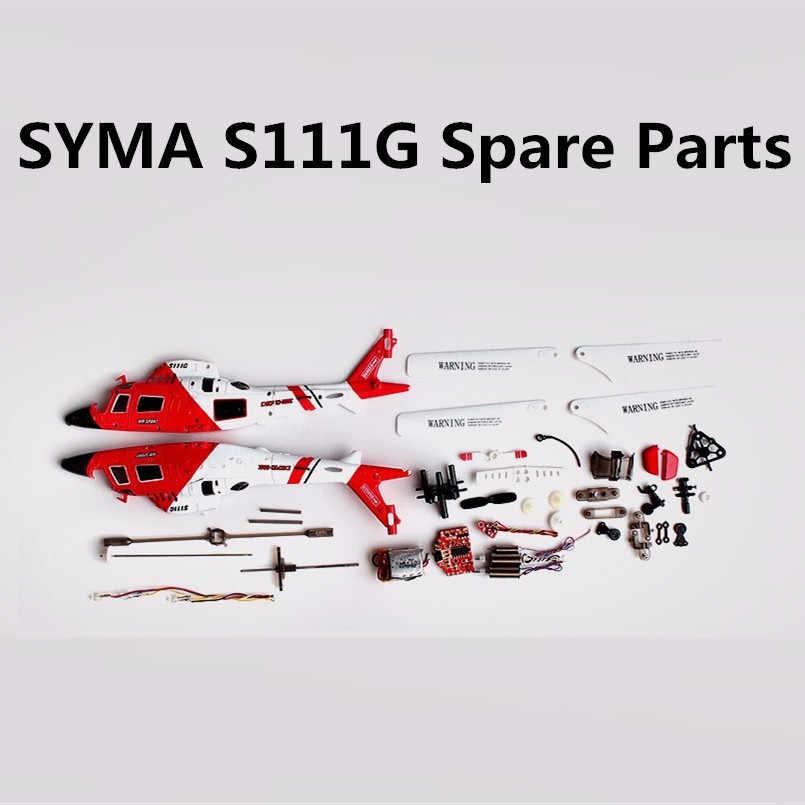 Syma S111G S111 Main Gear Set Motor EEN B Props Tail Blades Flybar Gespen Blade Grip Air Sport Voor R /C Helicopter Rc Onderdelen